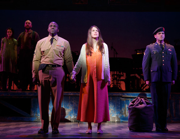 <p>Joshua Henry, Sutton Foster, and Colin Donnell star in the Broadway premiere of Brian Crawley and Jeanine Tesori&#39&#x3B;s <em>Violet</em>, produced by Roundabout Theatre Company and directed by Leigh Silverman, at the American Airlines Theatre.</p><br />(© Joan Marcus)