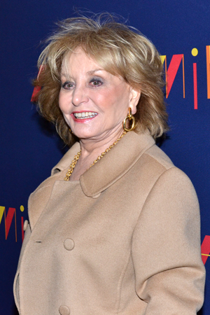 <p>Journalist Barbara Walters smiles for the cameras.</p><br />(© David Gordon)