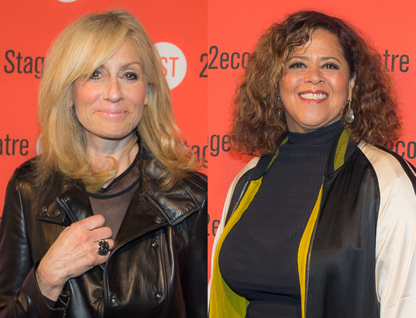 <p>Judith Light and Anna Deavere Smith look stunning before the party.</p><br />(© Seth Walters)