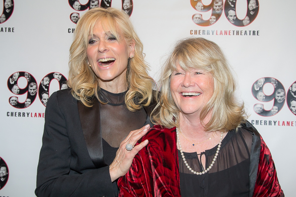 <p>Judith Light and Judith Ivey share a laugh before the celebration begins.</p><br />(© Seth Walters)