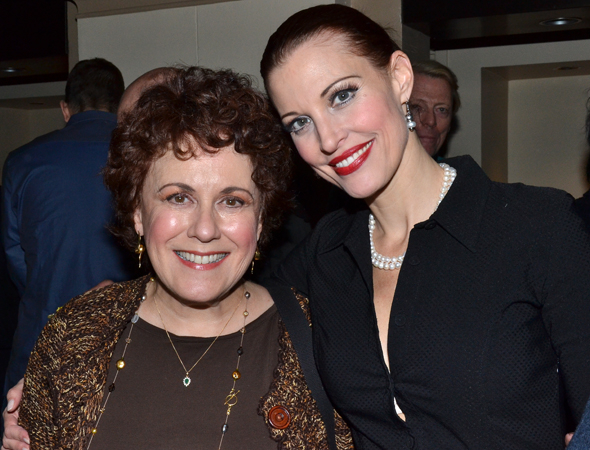 <p>Judy Kaye and Rachel York led the cast as Belle Poitrine, older and younger, respectively.</p><br />(© David Gordon)