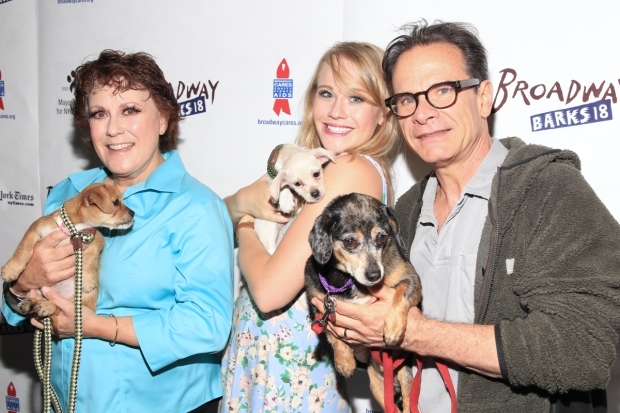 <p>Judy Kaye, Carrie St. Louis, and Peter Scolari have a <em>Wicked</em> time at <em>Broadway Barks</em>.</p><br />(© Tricia Baron)