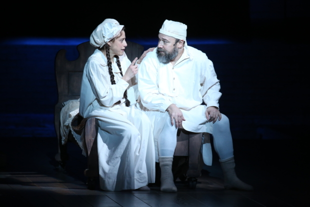 <p>Judy Kuhn and Danny Burstein share a moment onstage.</p><br />(© Joan Marcus)