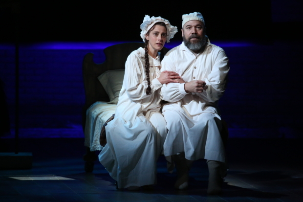 <p>Judy Kuhn plays <em>Fiddler on the Roof</em>&#39&#x3B;s matriarch Golde, with Danny Burstein as Tevye.</p><br />(© Joan Marcus)