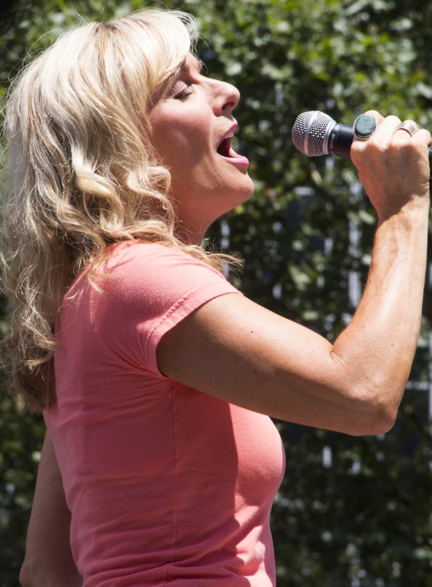 <p>Judy McLane performs &quot&#x3B;The Winner Takes It All&quot&#x3B; from <em>Mamma Mia!</em> at Broadway in Bryant Park.</p><br />(© David Gordon)