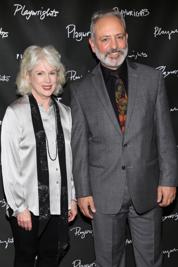 <p>Julia Duffy and Mark Zeisler share the stage.</p><br />(© Tricia Baron)