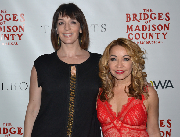 <p>Julia Murney joins Jennifer Cody to root for Cody&#39&#x3B;s husband, <em>Bridges</em> cast member Hunter Foster.</p><br />(© David Gordon)