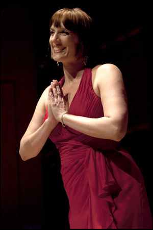 <p>Julia Murney takes a bow.</p><br />(© Christopher Gagliardi)