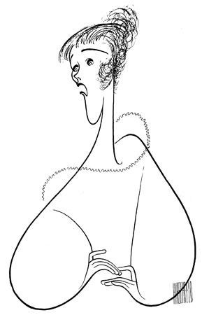 <p>Julie Andrews has been drawn more times than any other performer — a staggering 54 times, from her 1955 Broadway debut in <em>The Boyfriend</em> to her 1995 Broadway turn in <em>Victor/Victoria</em>. Hirschfeld drew her one last time in 2002, just before he died, for a composite of performers who have appeared on PBS&#39&#x3B; <em>Great Performances</em>.</p><br />courtesy of the Al Hirschfeld Foundation