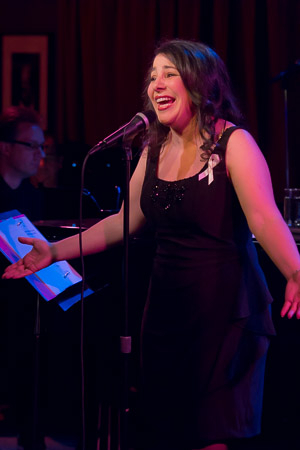 <p>Julie Garnye flew from L.A. to sing &quot&#x3B;The Story Goes On.&quot&#x3B;</p><br />(© Seth Walters)