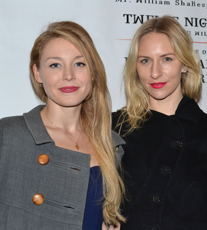 <p>Juliet Rylance, daughter of star Mark Rylance (and husband of Christian Camargo), joins her pal Mickey Sumner for the evening.</p><br />(© David Gordon)