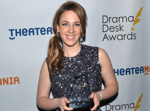 <p>June 1, 2014: Jessie Mueller wins a Drama Desk Award for Outstanding Actress in a Musical.</p><br />(© David Gordon)