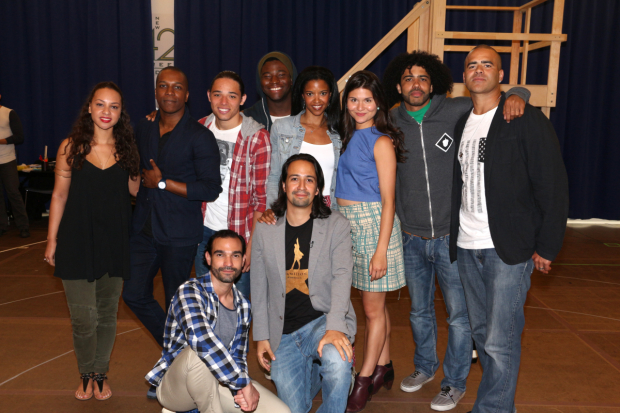 <p>June 18, 2015: Rehearsals begin for the Broadway production of <em>Hamilton</em>.</p><br />(© David Gordon)