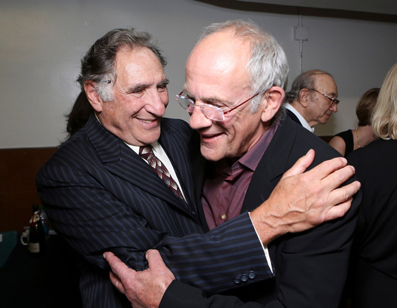 <p>Just like old times with Judd Hirsch and Christopher Lloyd.</p><br />(© 2013 Ryan Miller/Capture Imaging)