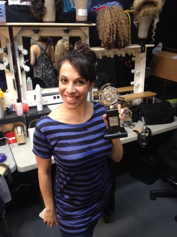 <p>Just saying hi to my Tony before the show. I won Best― Tony...It wasn't televised, so you probably didn't see it. It was for Best Ensemble Member able to convey...It was Best Ensemble Member with 0.00 lines in a musical. Yes. That. </p>