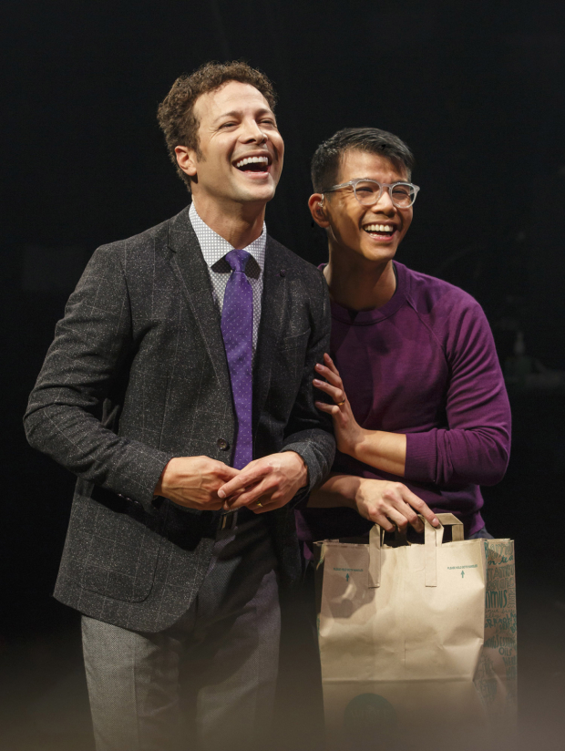 <p>Justin Guarini and Telly Leung star in Broadway&#39&#x3B;s first a cappella musical.</p><br />(© Joan Marcus)