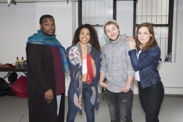 <p>Juwan Crawley, Alysha Deslorieux, F. Michael Haynie, and Erika Henningsen head the cast of Philadelphia Theatre Company&#39&#x3B;s <em>Found</em>.</p><br />(© Seth Walters)