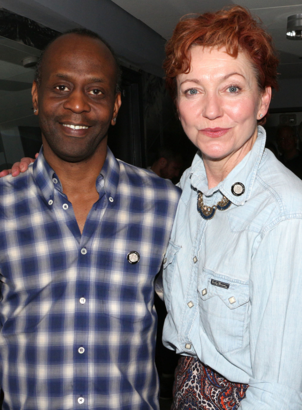 <p>K. Todd Freeman and Julie White are Featured Actor and Actress nominees for their work in Lisa D&#39&#x3B;Amour&#39&#x3B;s <em>Airline Highway</em>.</p><br />(© David Gordon)