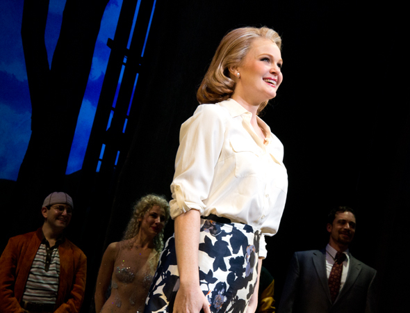 <p>Kate Baldwin basks in the audience&#39&#x3B;s applause.</p><br />(© David Gordon)