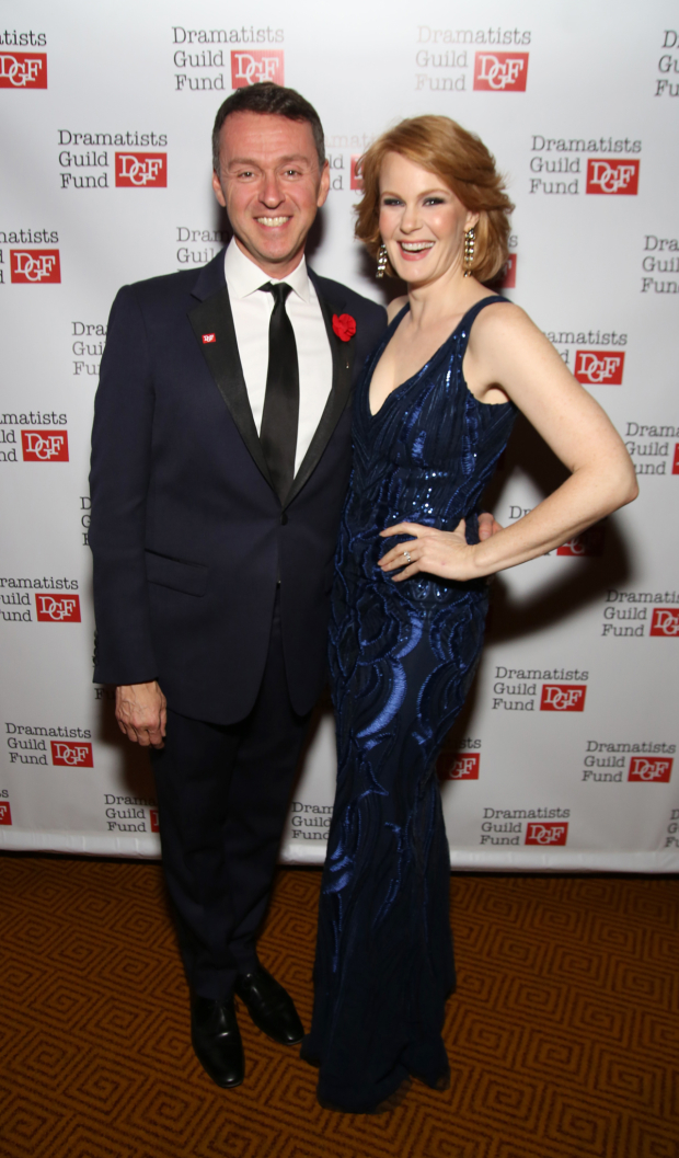 <p>Kate Baldwin poses with Andrew Lippa.</p><br />(© Walter McBride)