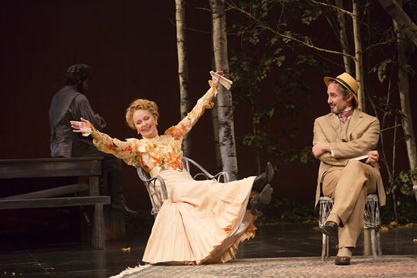 <p>Kate Burton is Arkadina in the production, with Marc Vietor as Dorn.</p><br />(© T Charles Erickson)