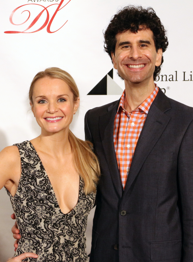 <p>Kate Reinders and John Cariani — <em>Something Rotten!</em></p><br />(© David Gordon)