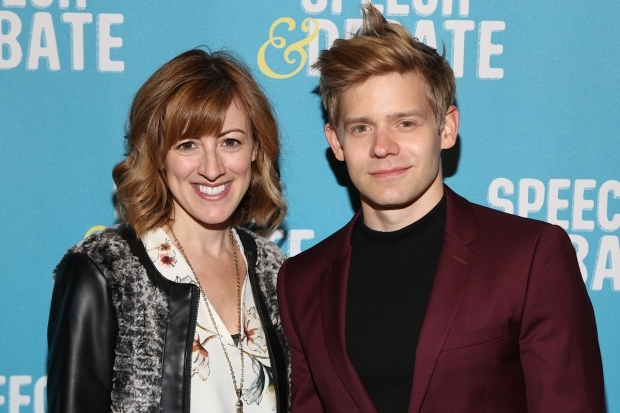 <p>Frequent collaborators Kate Wetherhead and Andrew Keenan-Bolger made an appearance.</p><br />(© Tricia Baron)