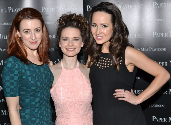 <p>Kate Wetherhead, Cathryn Salamone, and Hannah Elless are the lovely ladies of the company.</p><br />(© David Gordon)