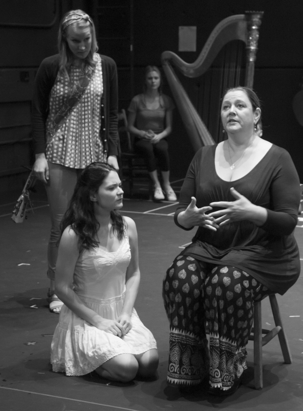 <p>Katie Boeck and Sandra Mae Frank share a scene with Camryn Manheim, who plays Wendla&#39&#x3B;s mother (among other adult characters).</p><br />(© David Gordon)
