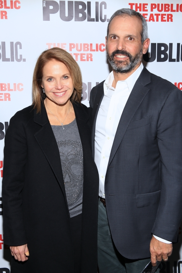 <p>Katie Couric and John Molner see <em>Tiny Beautiful Things</em>.</p><br />(© Tricia Baron)