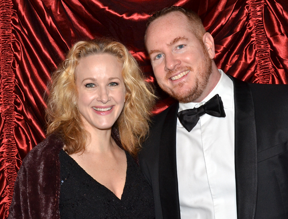 <p>Katie Finneran and Darren Goldstein show off their black-tie attire.</p><br />(© David Gordon)
