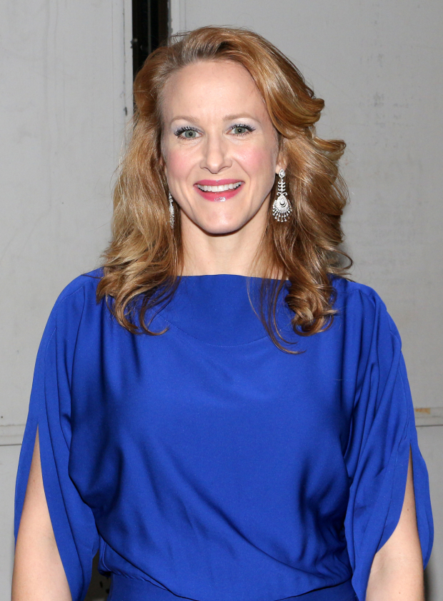 <p>Katie Finneran was looking bright in blue.</p><br />(© David Gordon)