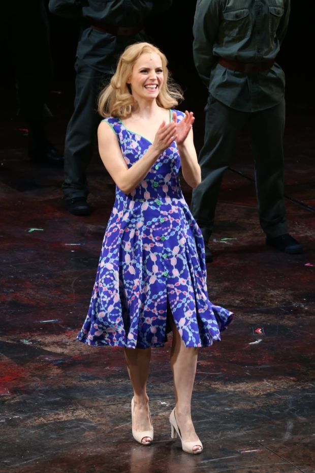 <p>Katie Rose Clarke at curtain call.</p><br />(© Tricia Baron)