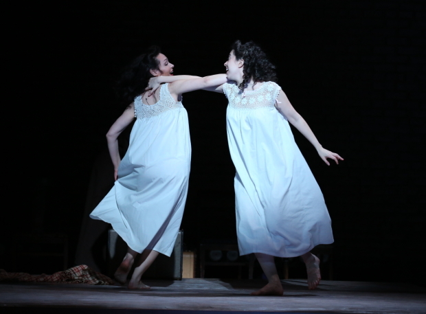 <p>Katrina Lenk and Adina Verson dance together.</p><br />(© Carol Rosegg)