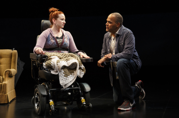 <p>Katy Sullivan and Victor Williams share a scene.</p>