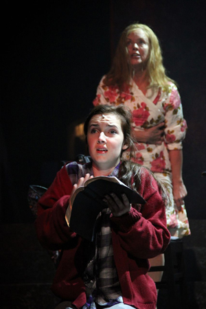 <p>Keaton Whittaker (Carrie) in a scene with Alice Ripley as her mother Margaret White.</p><br />(© Jeff Carpenter)