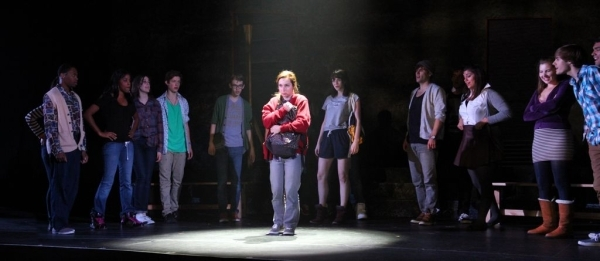<p>Keaton Whittaker stars as Carrie White in <em>Carrie the Musical</em> at the Moore Theatre.</p><br />(© Jeff Carpenter)
