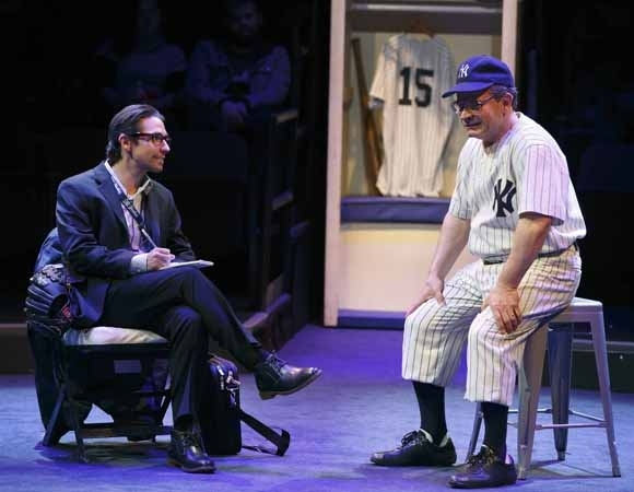 <p>Keith Nobbs as Billy Martin with Peter Scolari as Yogi Berra.</p><br />(© Joan Marcus)
