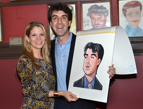 <p>Kelli O&#39&#x3B;Hara joins her <em>Bridges</em> songwriter for a commemorative photo.</p><br />(© David Gordon)