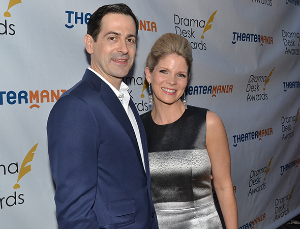 <p>Kelli O&#39&#x3B;Hara, Outstanding Lead Actress in a Musical nominee for <em>The Bridges of Madison County</em>, with her husband, Greg Naughton.</p><br />(© David Gordon)