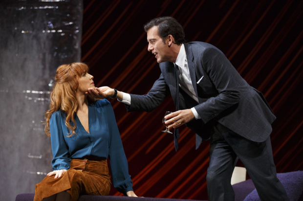 <p>Kelly Reilly and Clive Owen play wife and husband Kate and Deeley.</p><br />(© Joan Marcus)