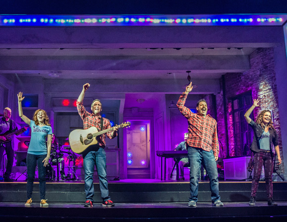 <p>Ken Triwush, Kate Wetherhead, Hannah Elless, David Rossmer, Vadim Feichtner, Steve Rosen, and Cathryn Salamone make up the cast of <em>The Other Josh Cohen</em> at Paper Mill Playhouse.</p><br />(© Billy Bustamante)