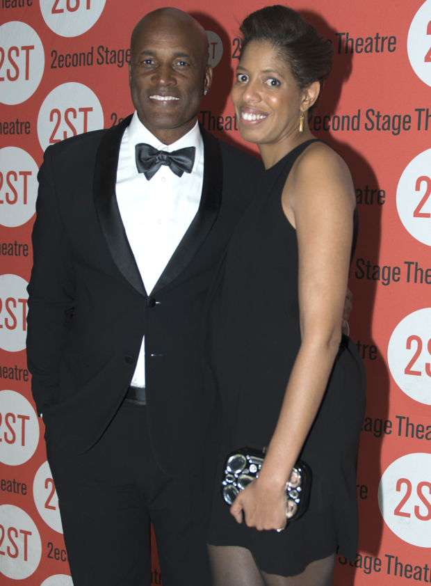 <p>Kenny Leon and Lydia R. Diamond walk the red carpet together.</p><br />(© Allison Stock)