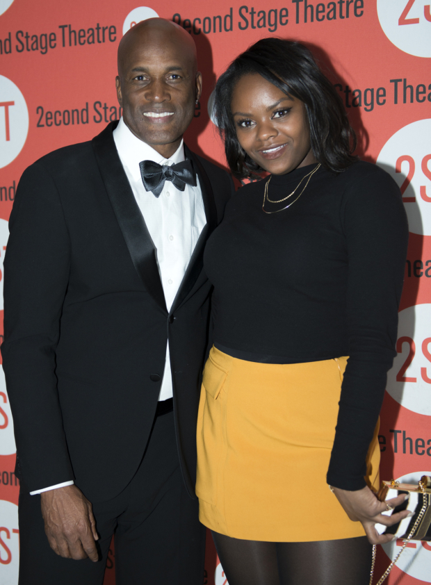 <p>Kenny Leon shares a photo with his <em>The Wiz Live!</em> star Shanice Williams.</p><br />(© Allison Stock)