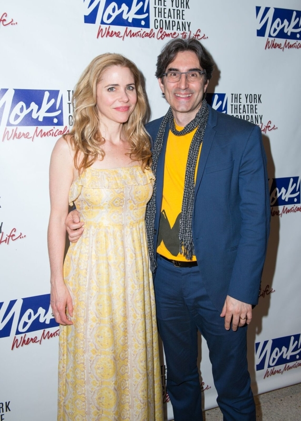 <p>Kerry Butler joins <em>Charlie Brown</em> director Michael Unger for a celebratory photo.</p><br />(© Allison Stock)
