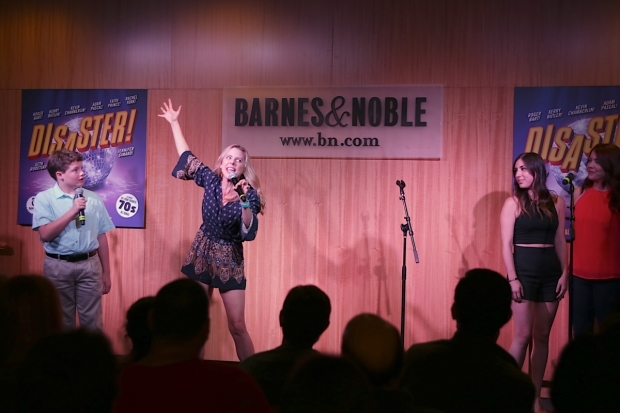 <p>Kerry Butler takes the stage at Barnes &amp&#x3B; Noble.</p><br />(© Tricia Baron)