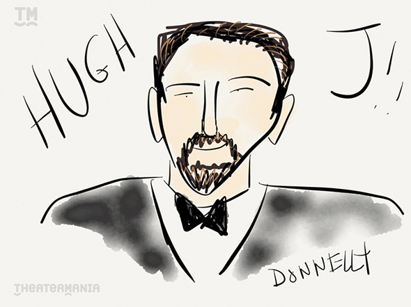 <p>Kicking off Liza Donnelly&#39&#x3B;s live-sketching of the Tony Awards with a little bit of host Hugh Jackman. </p><br />(© Liza Donnelly)