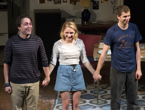 <p>Kieran Culkin, Tavi Gevinson, and Michael Cera take their opening-night bow in <em>This Is Our Youth</em> at the Cort Theatre.</p><br />(© David Gordon)