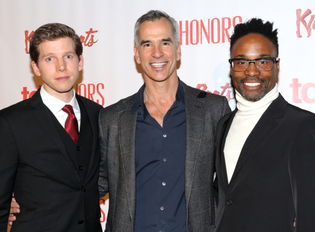 <p><em>Kinky Boots</em> director and choreographer Jerry Mitchell reunites with original leading men Stark Sands and Billy Porter.</p><br />(© David Gordon)