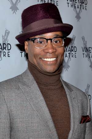 <p><em>Kinky Boots</em> Tony winner Billy Porter smiles for the cameras.</p><br />(© David Gordon)